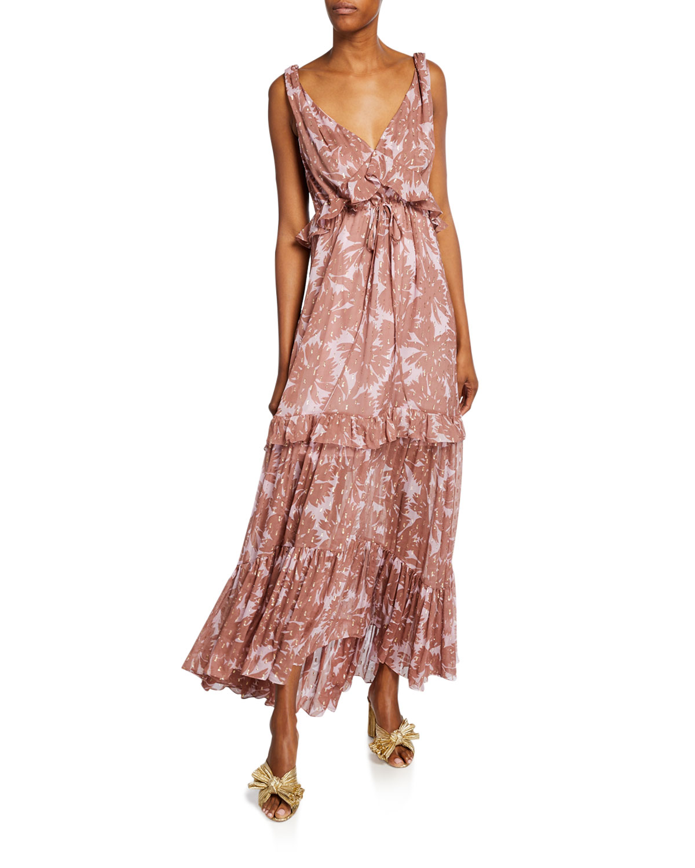 Diane Von Furstenberg Dresses MISHA TIERED SLEEVELESS MAXI DRESS