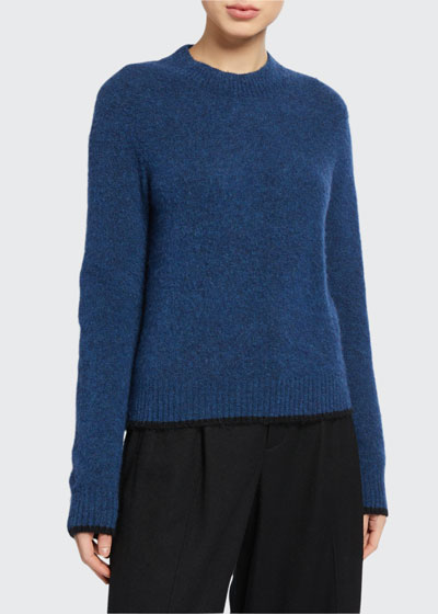 Pullover Contrast Tip Sweater