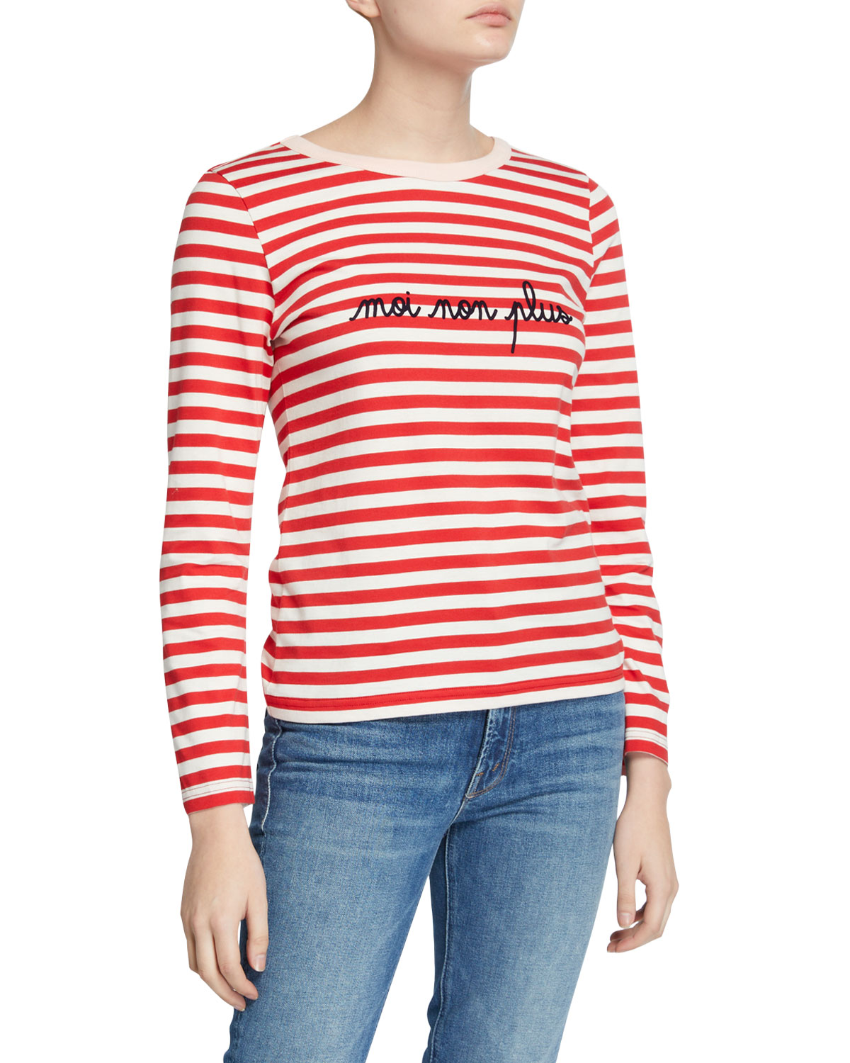Maison Labiche MOI NON PLUS STRIPED LONG-SLEEVE TEE