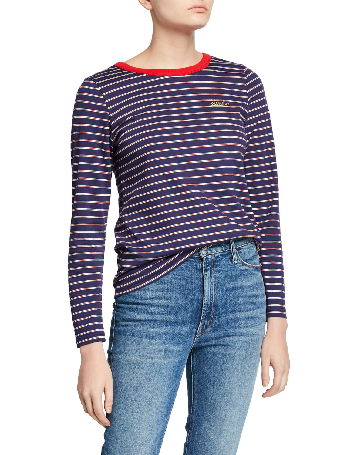 Maison Labiche BLONDIE STRIPED LONG-SLEEVE TEE
