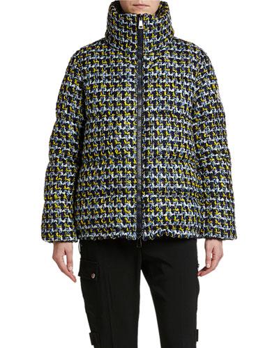Elby Tweed Puffer Coat