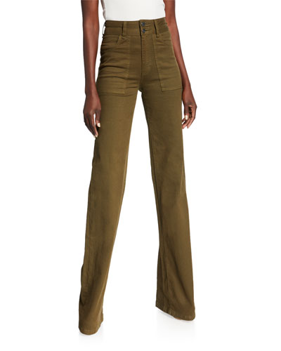 Crosbie High-Rise Wide-Leg Jeans
