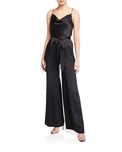 Rannah Tie-Waist Silk Jumpsuit