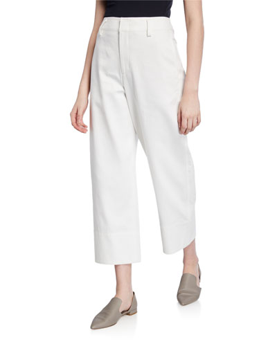 Casual Straight Cropped Pants