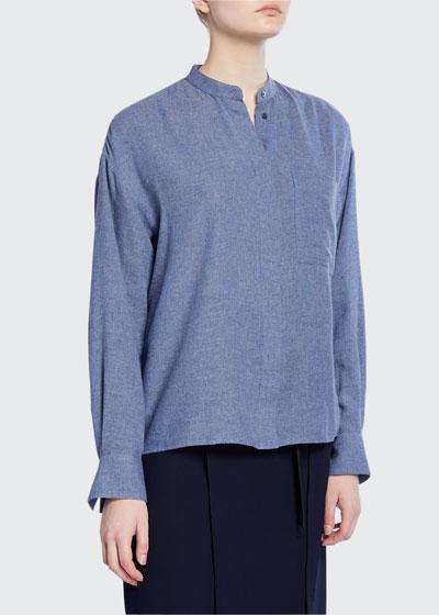 Button-Down Collared Shirt
