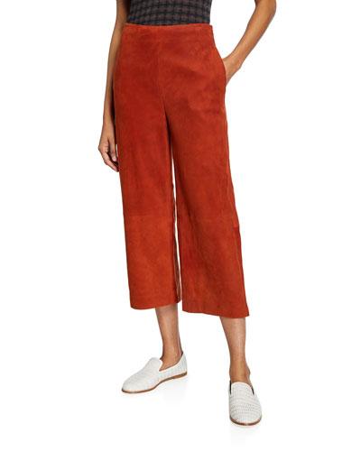 Suede Culotte Pants