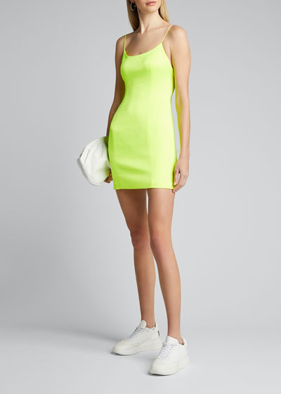 Nelle Fitted Spaghetti Strap Mini Dress
