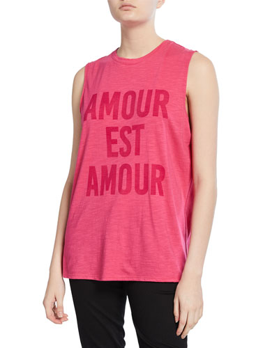 Love Is Love Graphic Muscle Tee