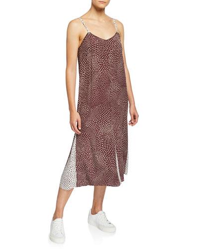 Dirdre Colorblock Dotted Tank Dress