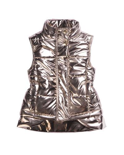 Kid's Metallic Nylon Vest, Size 7-14
