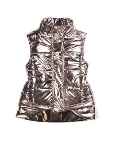 Kid's Metallic Nylon Vest, Size 4-6