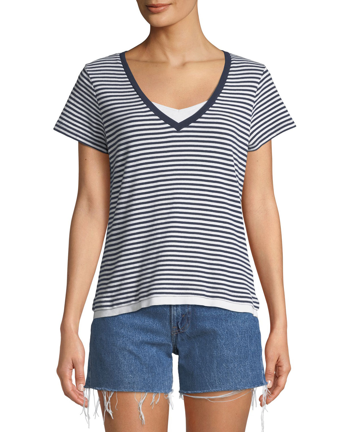 Elizabeth And James Tops VINTAGE ONE-OF-A-KIND FRENCH STRIPE TEE