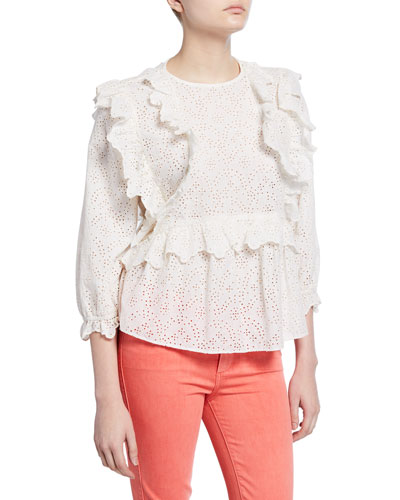 The Eyelet Flutter Top