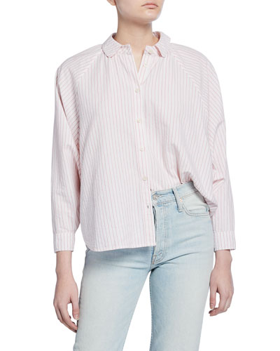 The Estate Button-Up Striped Cotton Shirt