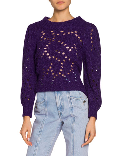 Sineady Cropped Alpaca Sweater