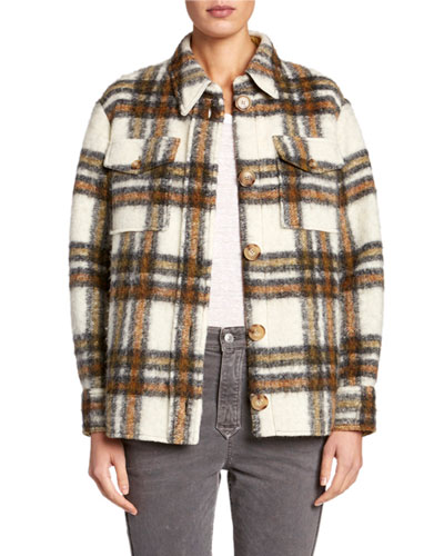 Gaston Plaid Wool Jacket