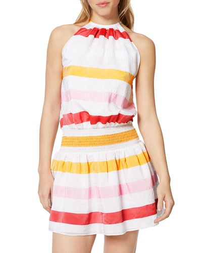 Paris Sleeveless Striped Dress