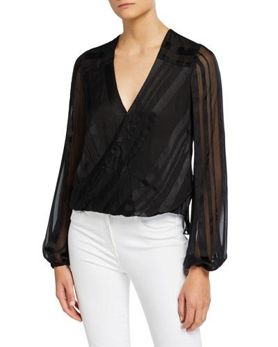 Joanie Striped Long-Sleeve Top