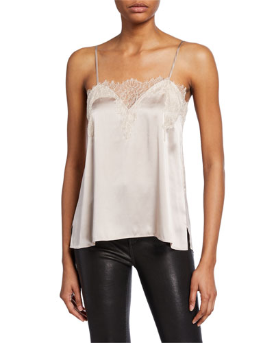 The Sweetheart Charmeuse Lace Cami