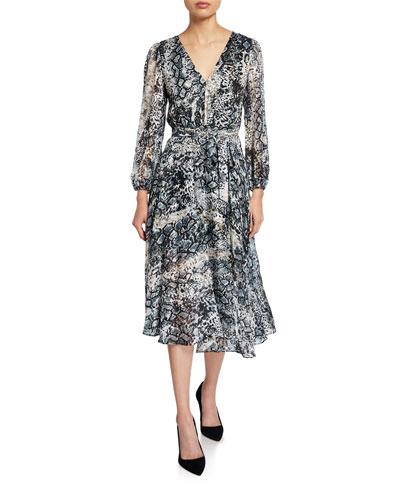 Coco Plunging V-Neck Mock-Wrap Dress