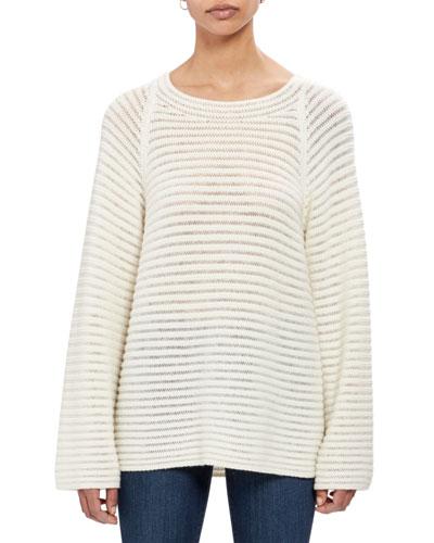 Cashmere Striped Pullover Sweater