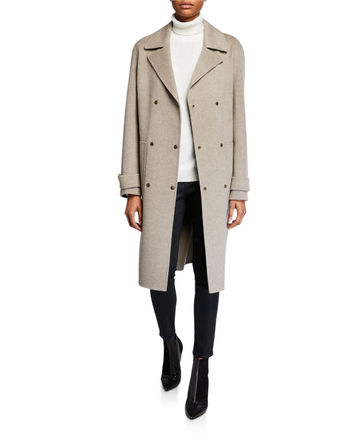 Theory Coats DOUBLE-FACED MILITARY TRENCH COAT