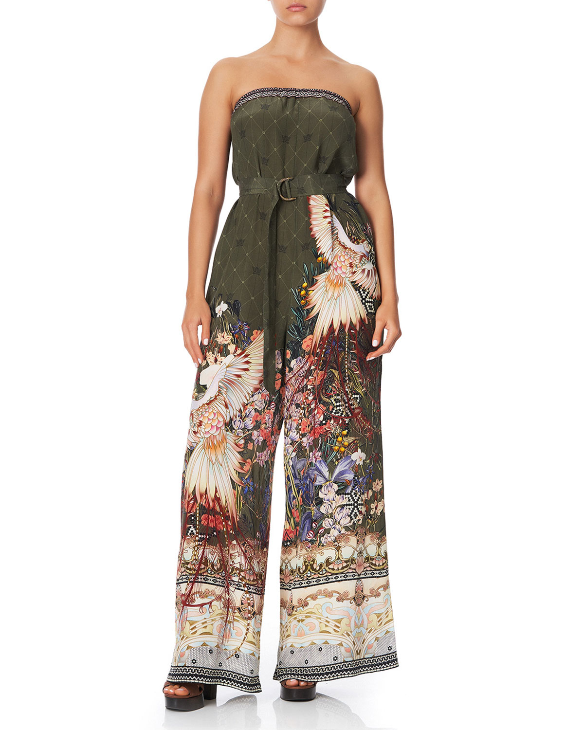 Camilla Suits STRAPLESS WIDE-LEG JUMPSUIT WITH D-RING BELT