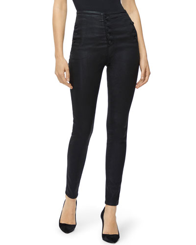 Natasha High-Rise Coated Skinny Jeans