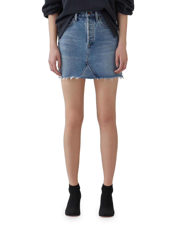 Agolde Skirts ADA HIGH-RISE DENIM SKIRT