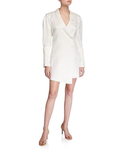 Inez Asymmetric Tailored Linen Dress