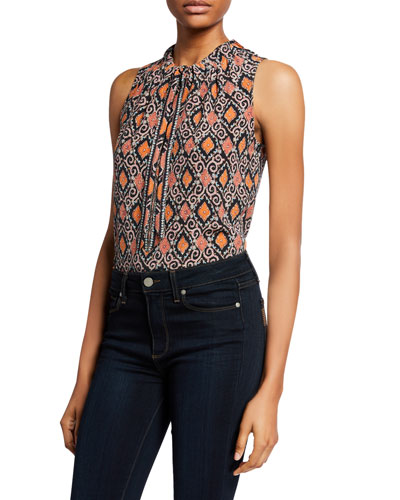 Eva Printed Sleeveless Blouse
