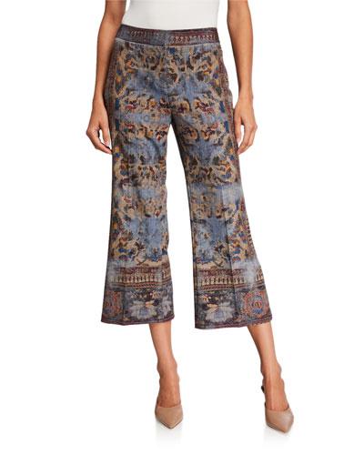 Mirielle Abstract Capri Pants
