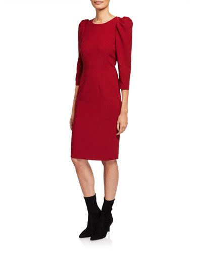 Jody Puff-Sleeve Sheath Dress
