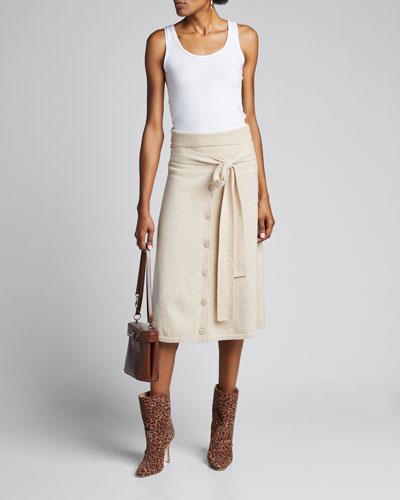 Cozy Wool Knit Skirt