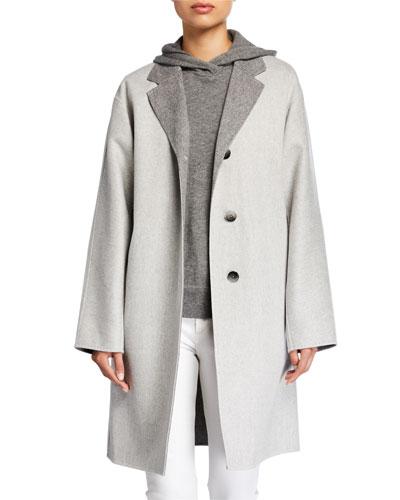 Cullen Supreme Double-Face Button-Front Reversible Jacket