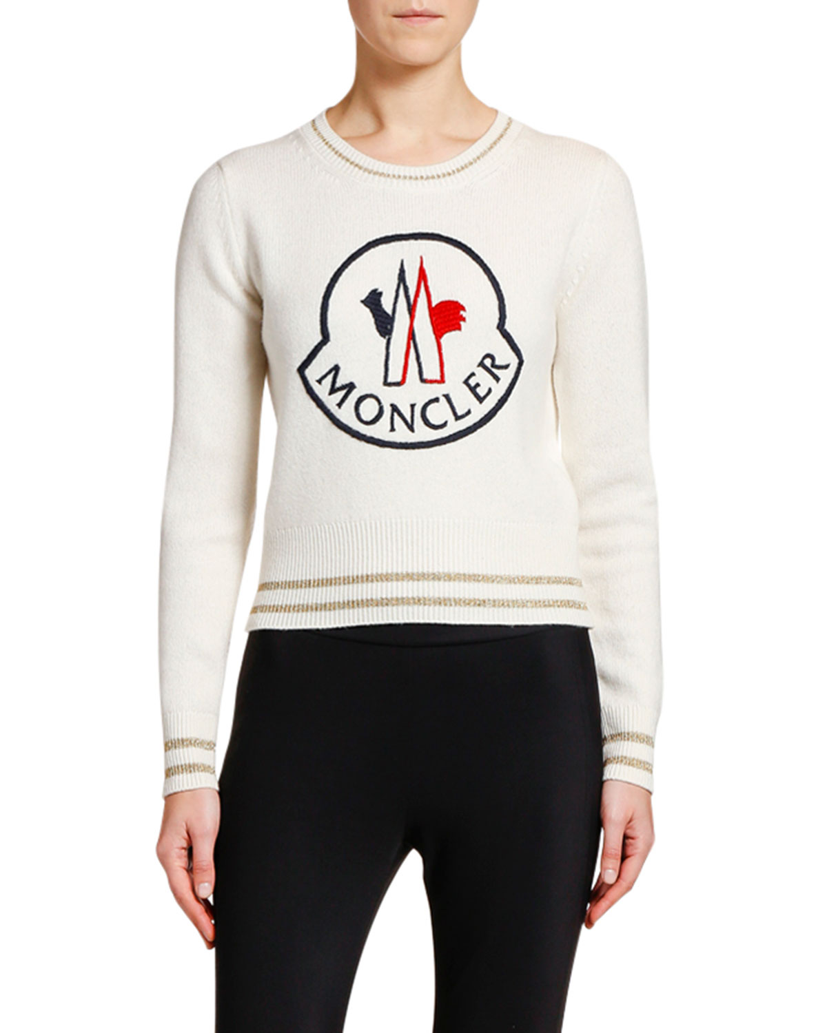 Moncler Sweaters LOGO-PATCH SWEATER