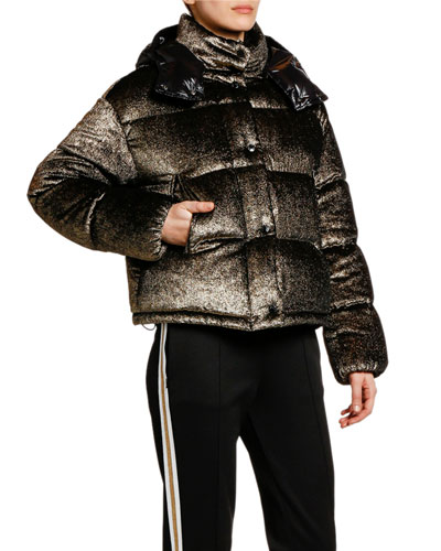 Caille Puffer Jacket w/ Contrast Hood