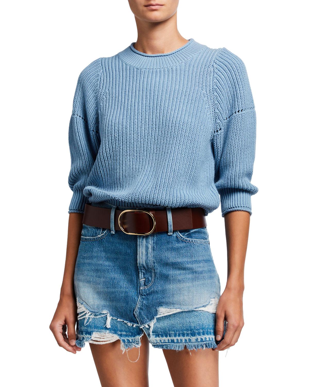Frame Sweaters DROP-NEEDLE CREWNECK SWEATER