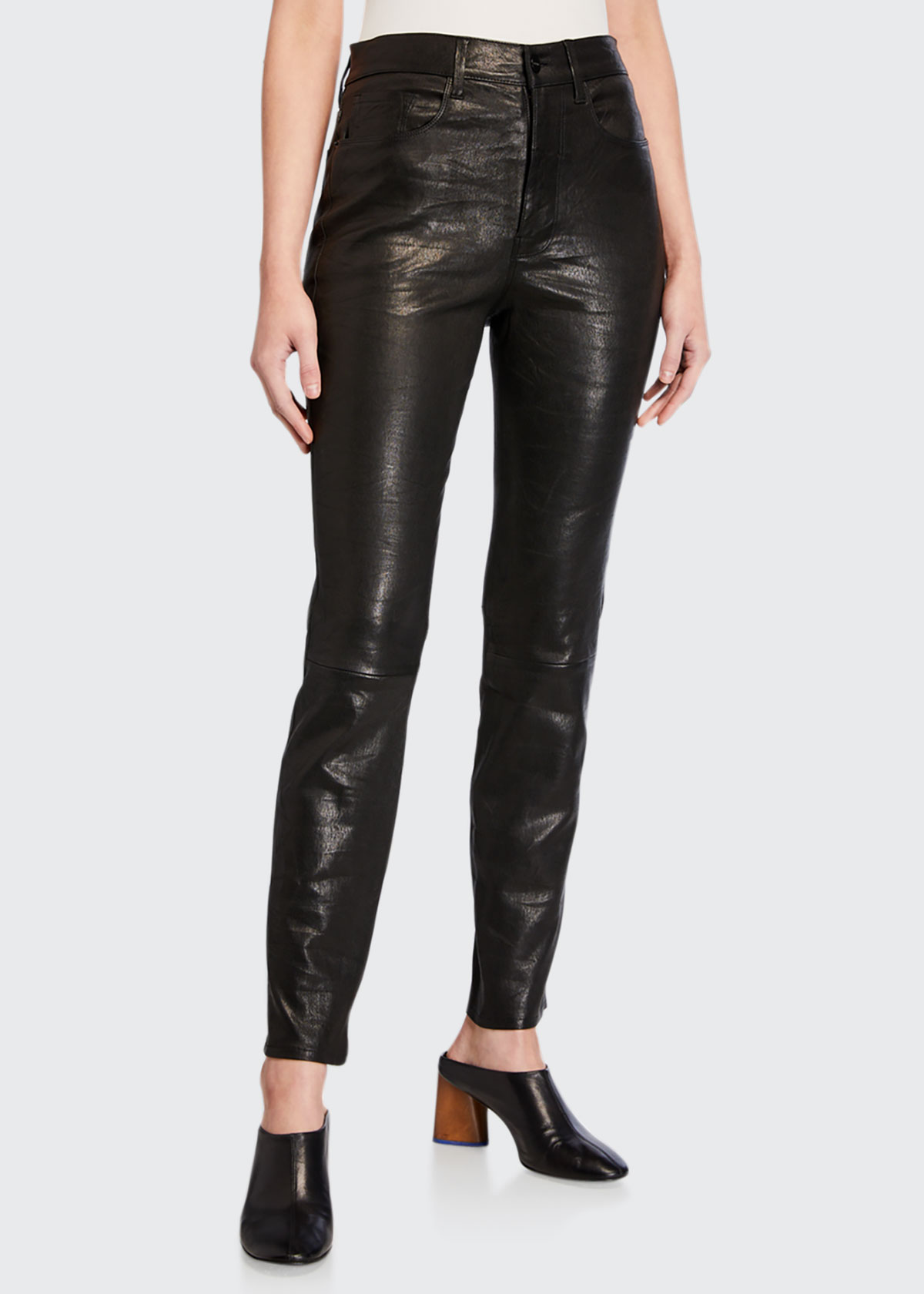 Frame Pants LE SYLVIE LEATHER SLIM PANTS
