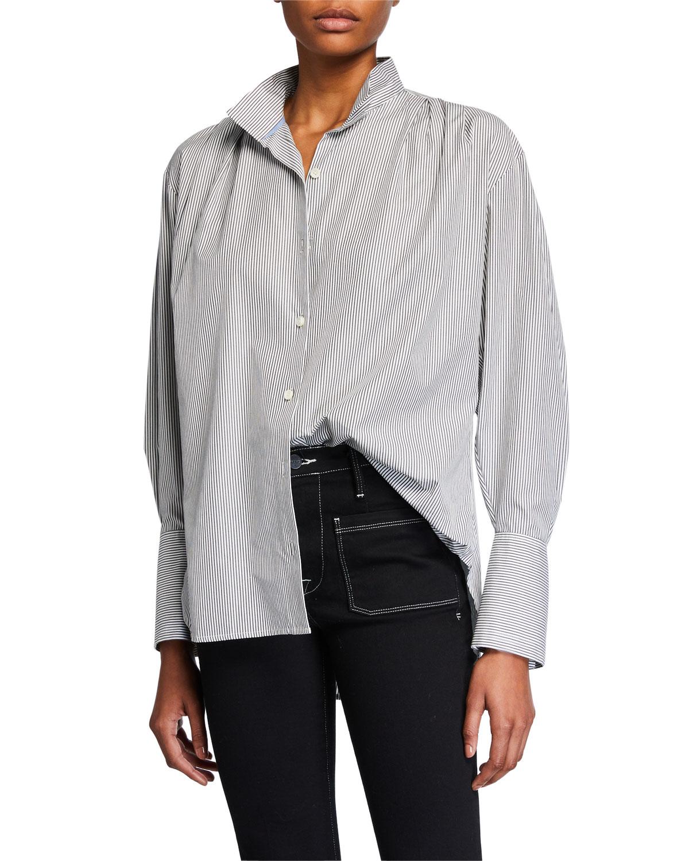 Frame T-shirts PLEATED CLEAN-COLLAR SHIRT