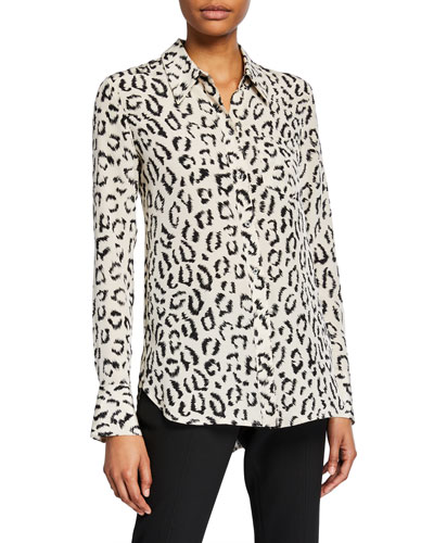 Emerson Printed Button-Down Top