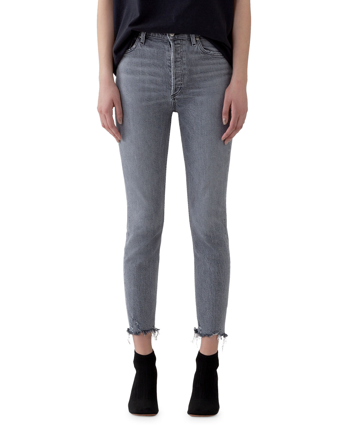 Agolde Jeans NICO HIGH-RISE SLIM JEANS WITH RAW HEM