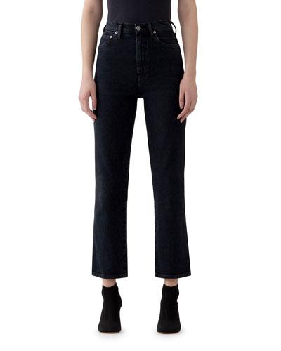 Pinch Waist High-Rise Straight Jeans