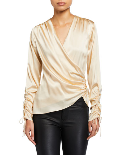 Crepe Back Satin Asymmetric Blouse