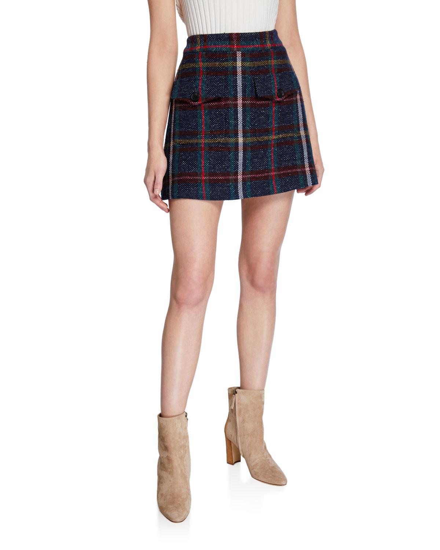 Veronica Beard Skirts LUCY CHECK MINI SKIRT