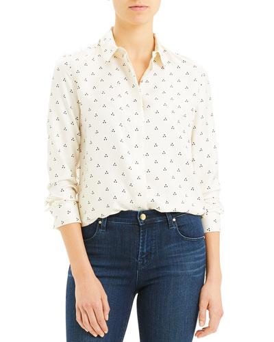 Vintage Dot Classic Button-Down Shirt