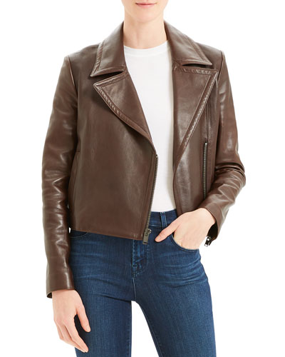 Slim Napa Leather Moto Jacket