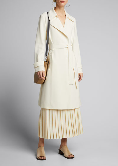 Oaklane Admiral Crepe Trench Coat