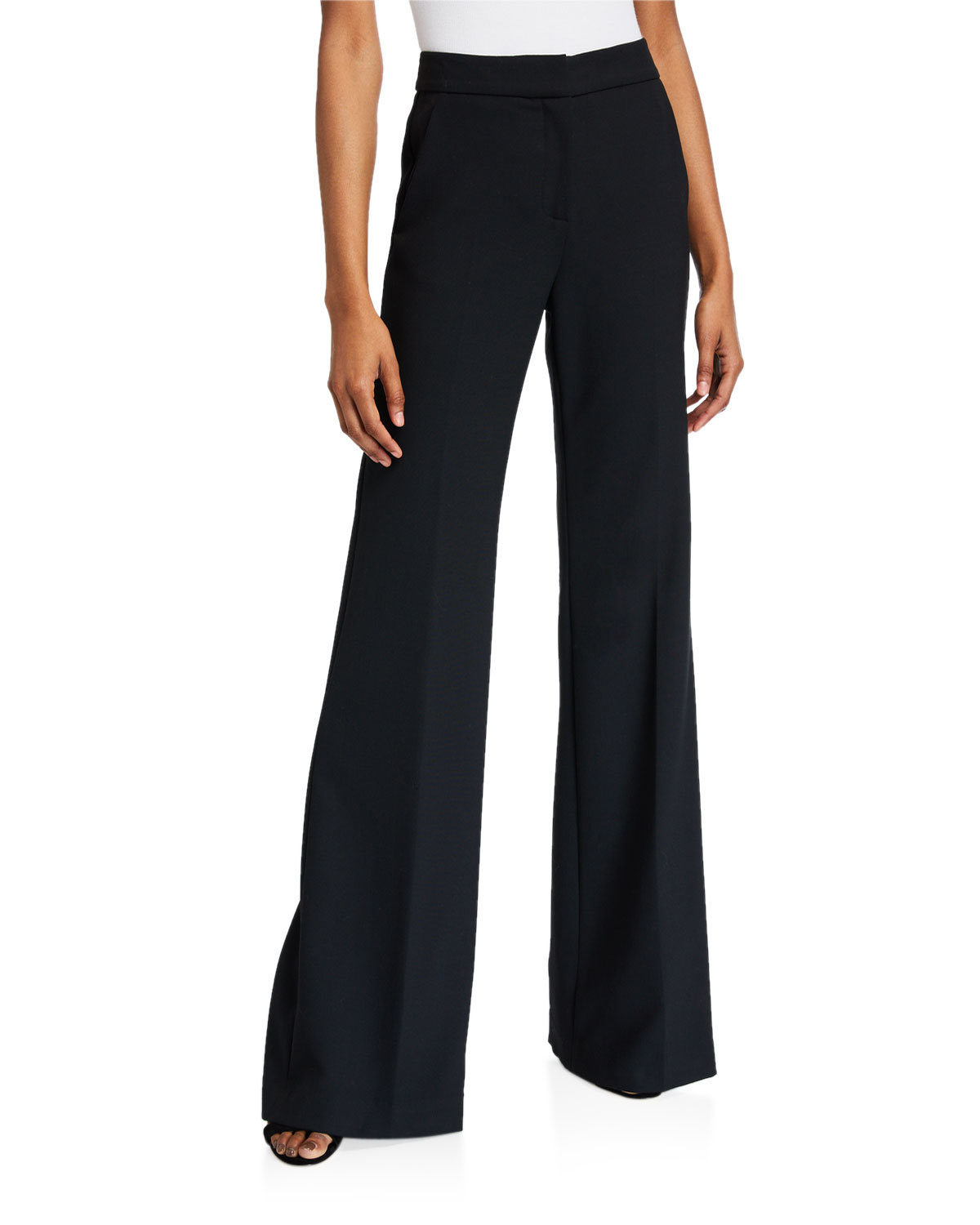 Veronica Beard Pants LEBONE HIGH-RISE WIDE-LEG PANTS