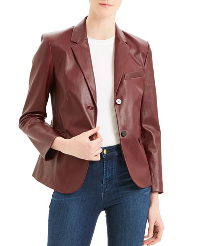 Classic Leather Shrunken Jacket